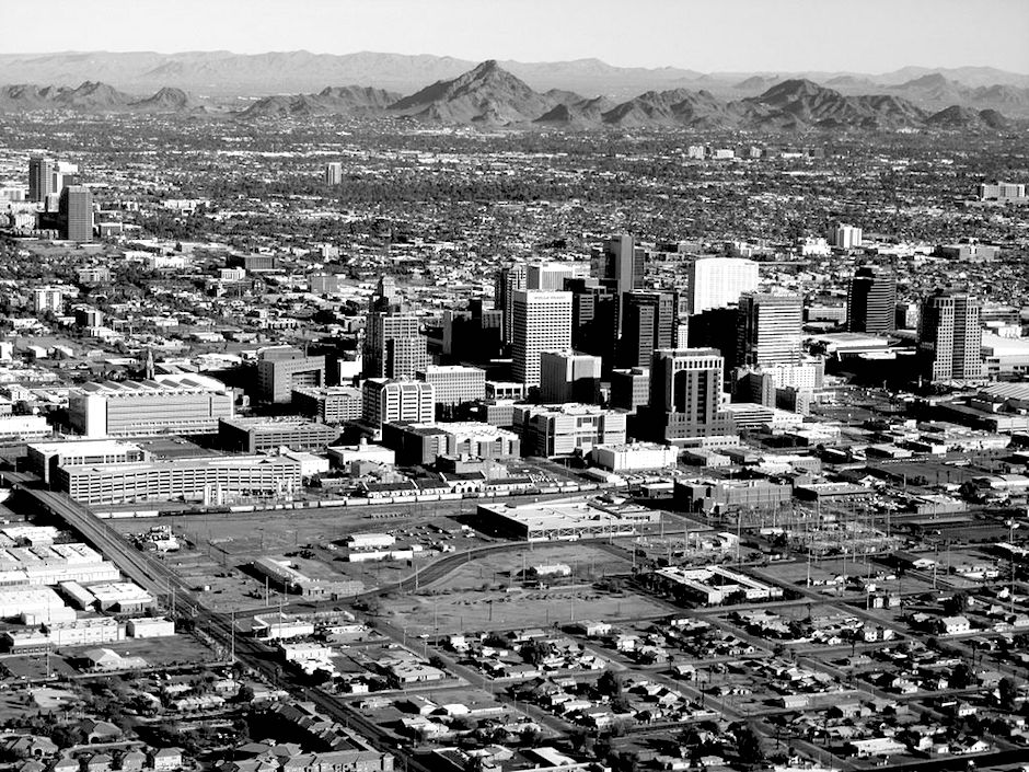 Phoenix Downtown, vista aerea, 2011 (CC BY-SA 3.0)